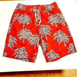 Tropical Swim Trunks Vacation Shorts Mens …